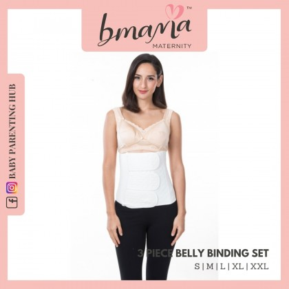 Bmama 3 Piece Belly Binding Set SS05 White M