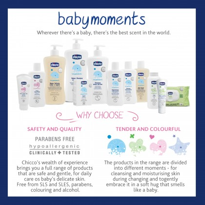 Chicco Baby Moments No-Tears Bath Shampoo 750ml