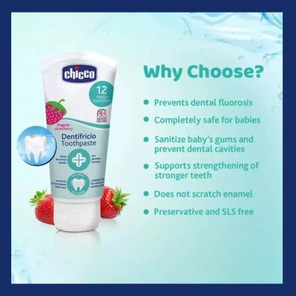 Chicco Toothpaste 12m+ Strawberry