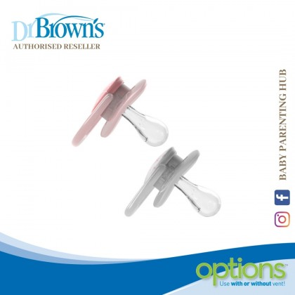 Dr Brown's Advantage Pacifier 2packs Stage 1 - Pink Stars