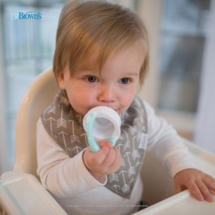 Dr Brown's Fresh Firsts Silicone Feeder - Grey