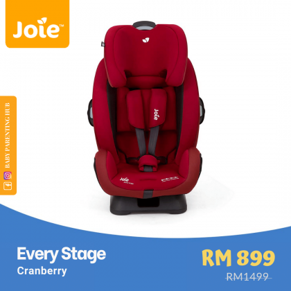 Joie Every Stage Cranberry Newborn to 36kg | Birth to 12 years old
