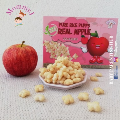 MommyJ Real Apple Pure Rice Puffs 50g