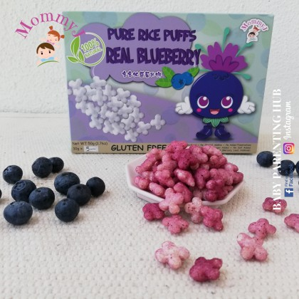 MommyJ Real Blueberry Pure Rice Puffs 50g