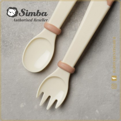 Simba Baby Learning Fork & Spoon Set 6months+ Raspberry