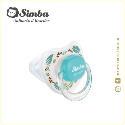 Simba Pacifier With Case Thumb Shaped Romance Blue 0months+