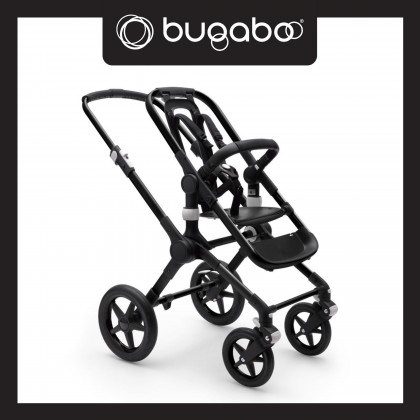 Bugaboo Fox2 Complete Stroller - Chassis Black + Style Set Grey Melange + Sun Canopy Red