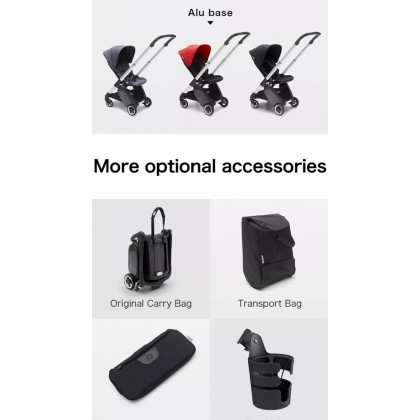 Bugaboo Ant Complete Stroller - Chassis ALU + Style Set - Pink Melange