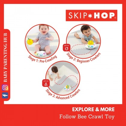 Skip Hop Explore & More Follow Bee Crawl Toy