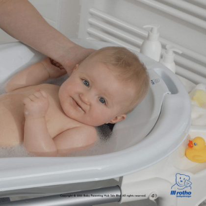 Rotho Babydesign Bath Seat With Nonskid Mat Silver Grey