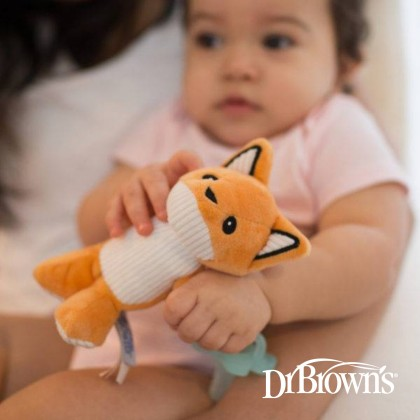Dr Brown's Franny The Fox Lovey With Aqua Pacifier 1pc