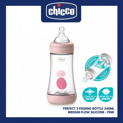 Chicco Perfect5 Feeding Bottle Value Set - Pink