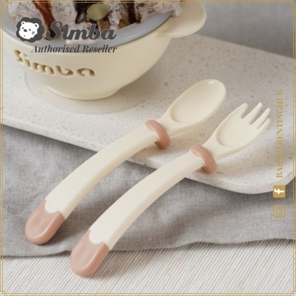 Simba Baby Learning Fork & Spoon Set 6months+ Caramel