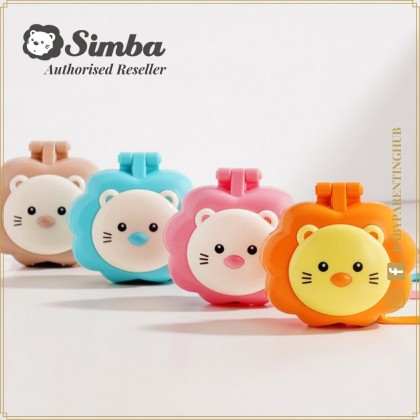 Simba Pacifier Holder With Case & Clip Strawberry