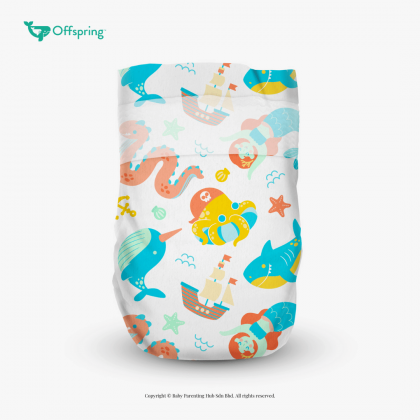 Offspring Diaper Fashion Tape S 3-7kg 48pcs MysticWaters