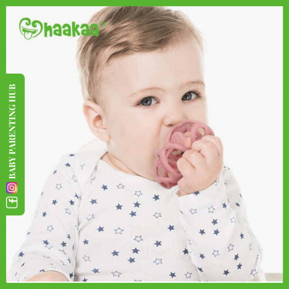 Haakaa Silicone Teething Ball Blush