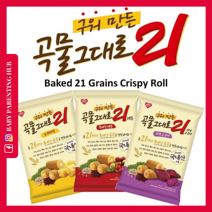 Kemy Kids Baked Grain Crispy Roll 21 Cream Cheese 15sticks 10grams/pack