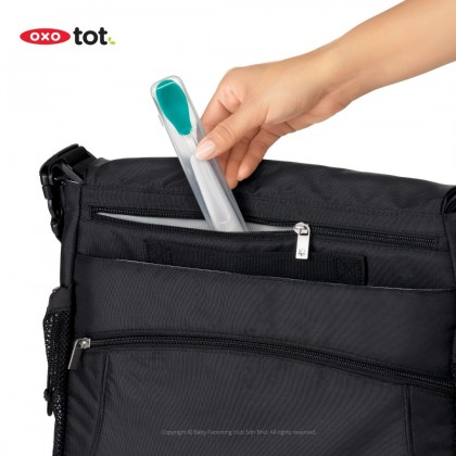 Oxo Tot On The Go Feeding Spoon With Case Teal