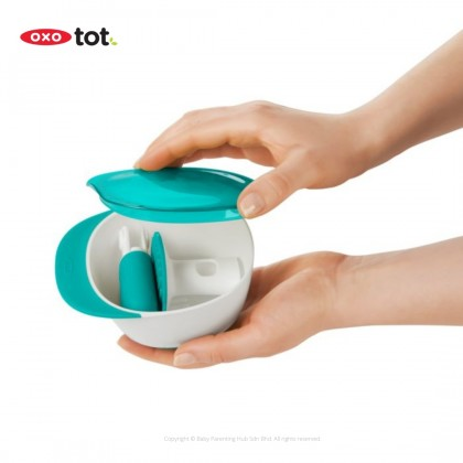 Oxo Tot Baby Food Masher With Bowl Teal
