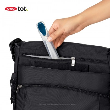 Oxo Tot On The Go Feeding Spoon With Case Navy